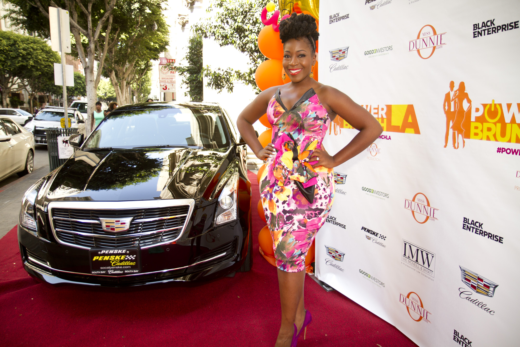 Cadillac, the title sponsor of the event, featured two of its luxury cars for display on the red carpet. Also, brands including Keurig and NewnyPooh cupcakes were featured as vendors and attendees were able to mix and mingle with representatives from all of the spotlighted companies. A DJ also played music for everyone's enjoyment.