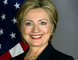 headshot of presidential candidate Hillary Clinton