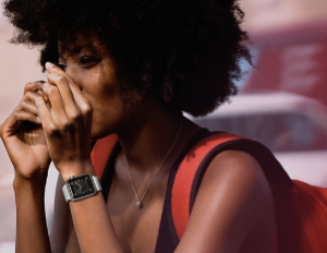 apple watch person black girl