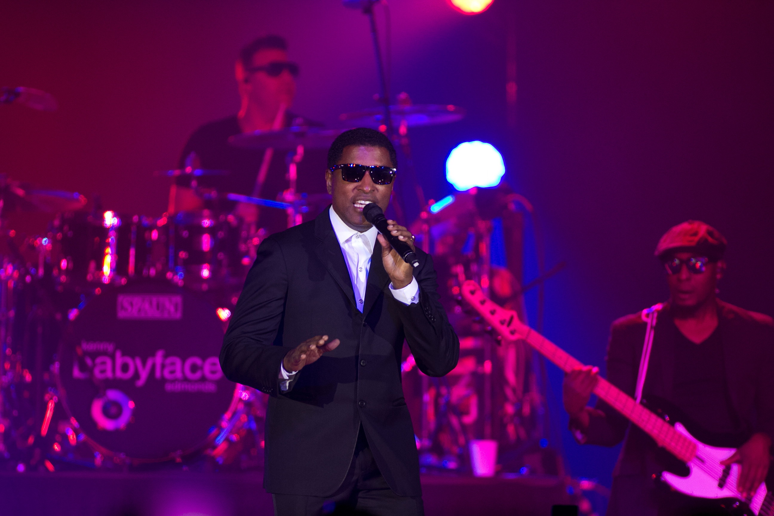 "Producer and singer Kenny ""Babyface"" Edmonds was a concert highlight and crowd favorite. (Image: Tony Leavell)"