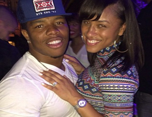 Ray Rice, seen with wife, Janay Palmer (Image: Instagram)
