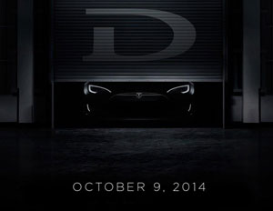 Tesla CEO Will Show Off The 'D' October 9
