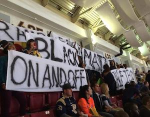 Protesters Champion 'Black Lives Matter' at Monday Night Football Game