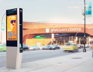 LinkNYC City Bridge Wi-fi link barclays center