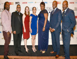 "Image: Honorees Herby ""Luv Bug"" Azor, Ricky Anderson, Christa D'Alimonte, Louise Cummings, Denise Brown-Henderson, Joseph K. West and DeMaurice Smith (Oswaldo Villanueva of Funever Photos)"