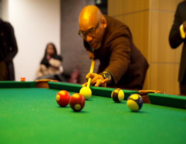 Guests enjoyed pool and more at the event.