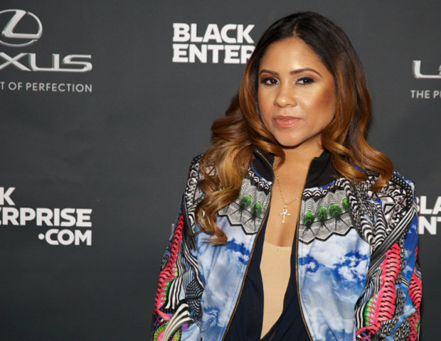 Power 105's Angela Yee on the red carpet.