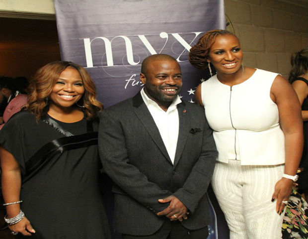 "The GrassROOTS Foundation board members, TV executive Mona Scott Young and Roots musician Tariq ""Black Thought"" Trotter, and president, Janice Johnson Dias, Ph.D. (Image: Facebook)"