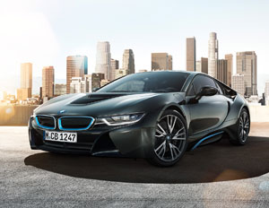 bmw i8 black blue