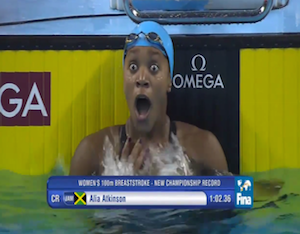 Alia Atkinson Becomes First Black Women To Win FINA World Swimming Title
