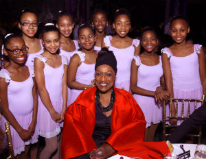 Image: Jessye Norman with Dance Theatre of Harlem students (Joseph Rodman)