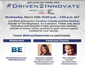 resumator founder and black enterprise driven2innovate twitter chat