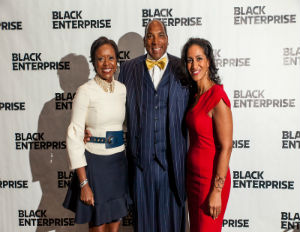 Image: Mellody Hobson, Black Enterprise CEO Earl G. Graves, Jr. and Women of Power TV host Caroline Clarke (File)