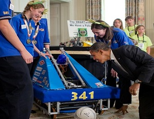 President Barack Obama at the White House Science Fair 2015