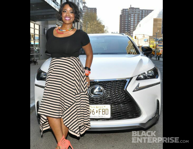 """Singer Esnavi, who's new single, """"Think About It,"""" is hitting the airwaves, gets comfy with the new Lexus NX."""