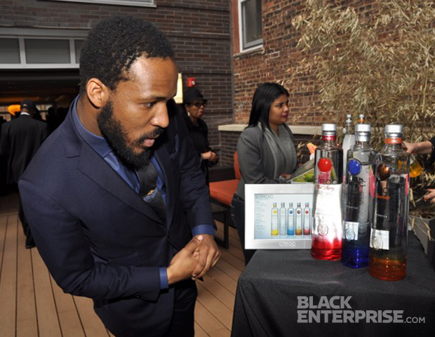 """The dapper designer Zedekiah of Alexander Nash NYC said """"The Good Life"""" is enjoying your hard work, building bridges with others and, of course, dressing. He along with other guests, enjoyed cocktails featuring Ciroc vodka."""