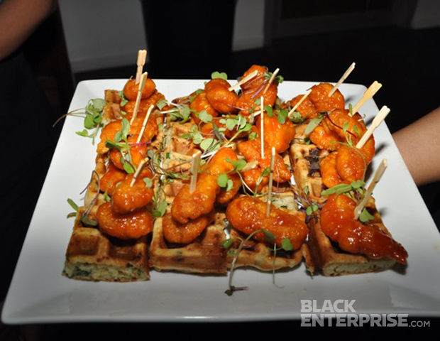 Bite-sized chicken and waffles never tasted so good, thanks to Chef Kimberly VanKline, who provided delicious hors d'oeuvres.