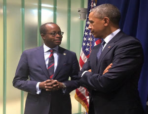 Image: Howard University President Wayne A.I. Frederick and President Obama (Facebook)