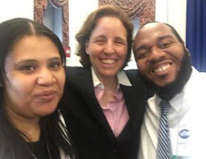 (Image: Felicia & Jamal O'Garro with Megan Smith)