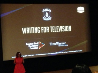Karen Horne, VP, sharing insights on Day 2 of the 2015 American Black Film Festival