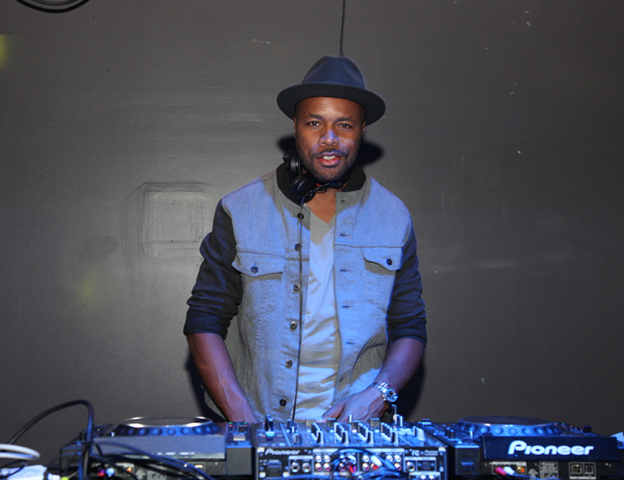 DJ D-Nice stayed true to the old school vibe and spun vinyl records all night.