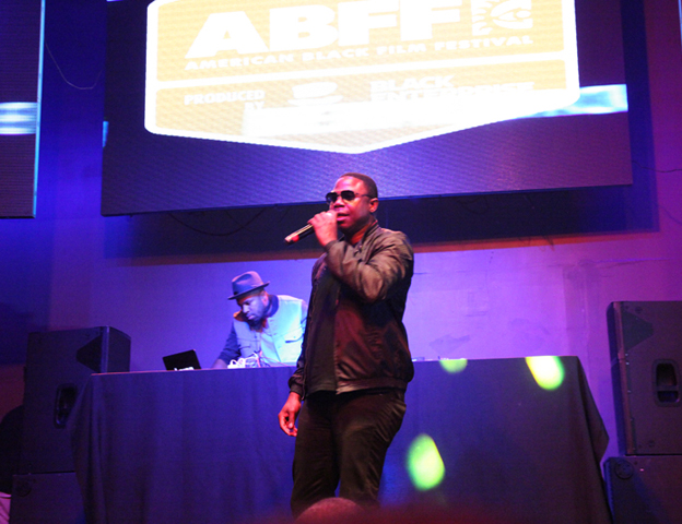 """""""The Human Beatbox"""" Doug E. Fresh took to the stage and rocked the crowd."""