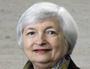 (Image: wikipedia) Fed Chairwoman Janet Yellen