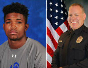 Christian Taylor, left, was fatally shot by Officer Miller Friday, Aug. 7. (Image: File)