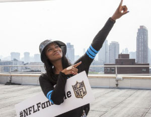 TIka Sumpter is a featured celebrity fan in NFL's newest apparel campaigns. (Image: NFL)