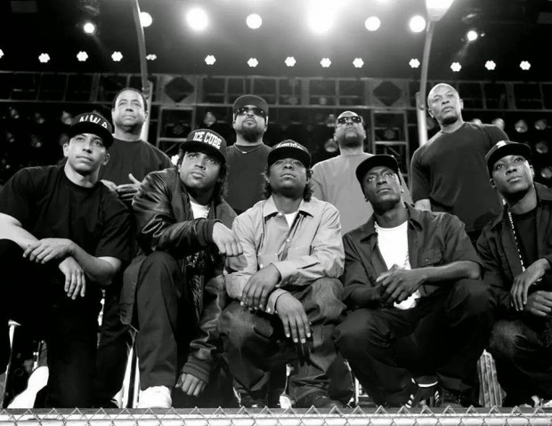 Original members of NWA and cast of Straight Outta Compton film