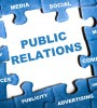 Jigsaw puzzle representation of public relations