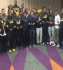 Black players from the University of Missouri football team (Image: Twitter)