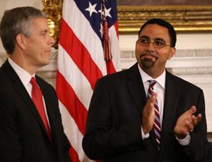 John King Jr. applauds outgoing education secretary Arne Duncan