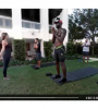 Lebron James doing yoga