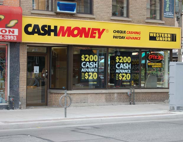 photo of a payday loans store