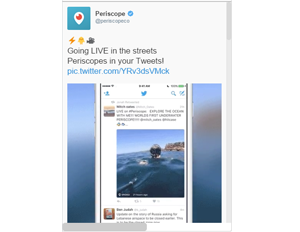 Periscope Broadcasts Now Play Right From Twitter