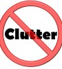 """no clutter"" sign"