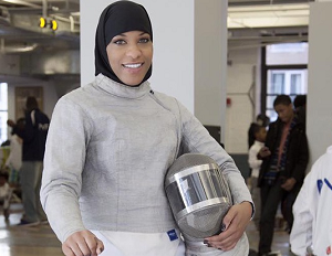 Making Herstory: Ibtihaj Muhammad Becomes First U.S. Olympic Athlete to Compete in a Hijab