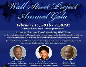 Microsoft Board Chair John W. Thompson's 'Fireside Chat' a Highlight of Wall Street Project Annual Gala