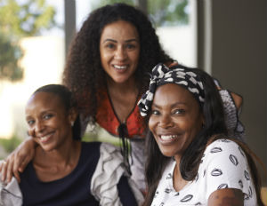 People - three black women