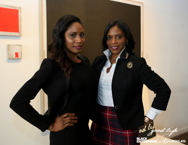 Guests Khalilah Webster, Executive Director of the Open Door Arts-in-Education Project (ODAEP); COO & Director of Media @ Vanguarde Consulting and  Shanell Boyd, Sponsorship and Partnership Marketing at ABFF Ventures LLC, pose for a picture.