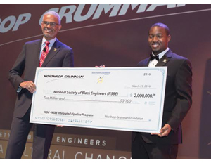 Northrop Grumman Gives $2 Million Grant to National Society
