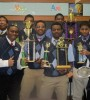 The Loyola Debate Team emerges victorious.  (Image: Loyola High School, Detroit)
