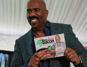 Steve Harvey is Bringing Home the Bacon and Cooking it With Ease