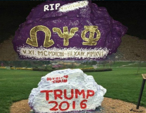 Trump Supporters Paint Over Memorial Honoring Deceased Omega Psi Phi Student