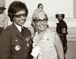 Josephine Baker with Lena Horne at The March on Washington.