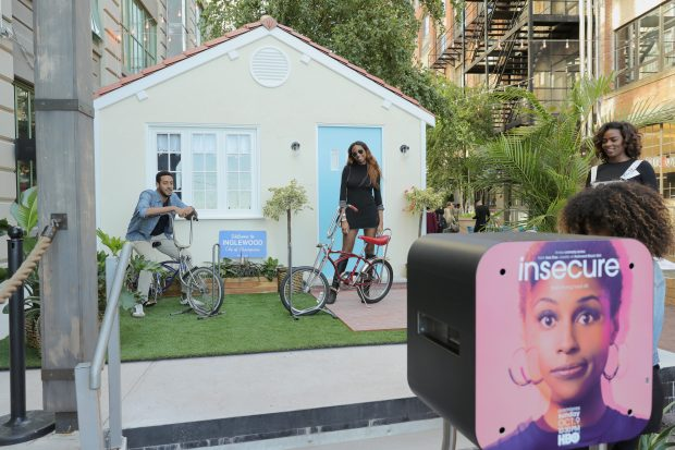 BROOKLYN, NY - SEPTEMBER 25: A view of the 'Insecure' photobooth at HBO's 'Insecure' Block Party on September 25, 2016 in Brooklyn City. (Photo by Neilson Barnard/Getty Images for HBO)