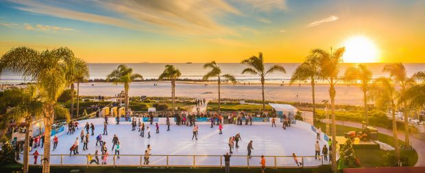 Sunset Ice Rink courtesy Del Coronado