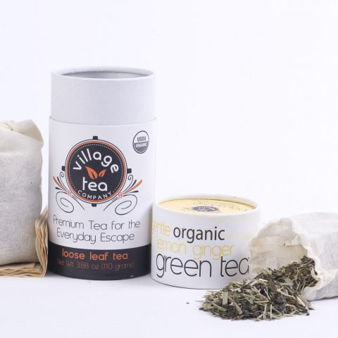 Village Tea Company Gentle Organic Lemon Ginger Green Tea