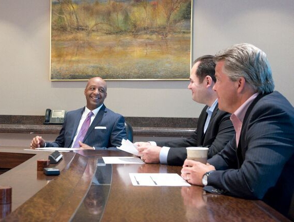 JCPenney CEO Marvin Ellison with senior JCP executives (Photo: Jesse Hornbuckle)